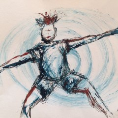 Drawing and Painting with a Dancer